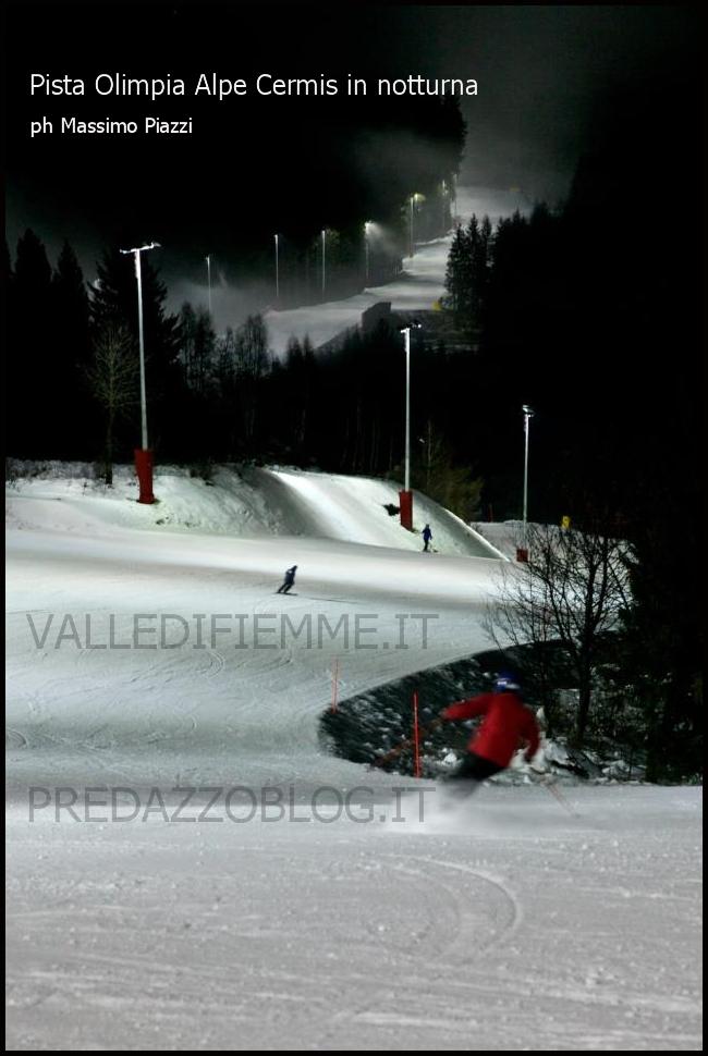 pista olimpia alpe cermis notturna fiemme cavalese Incidente grave allAlpe Cermis,  6 morti e 2 feriti gravi, motoslitta in un dirupo