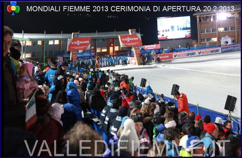 cerimonia apertura fiemme 2013 lago tesero Aperti ufficialmente i Campionati del Mondo di Sci Nordico Fiemme 2013   video e foto