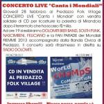 concerto live canta i mondiali predazzo fiemme 2013 150x150 Predazzo Folk Village la magia del villaggio alpino in piazza
