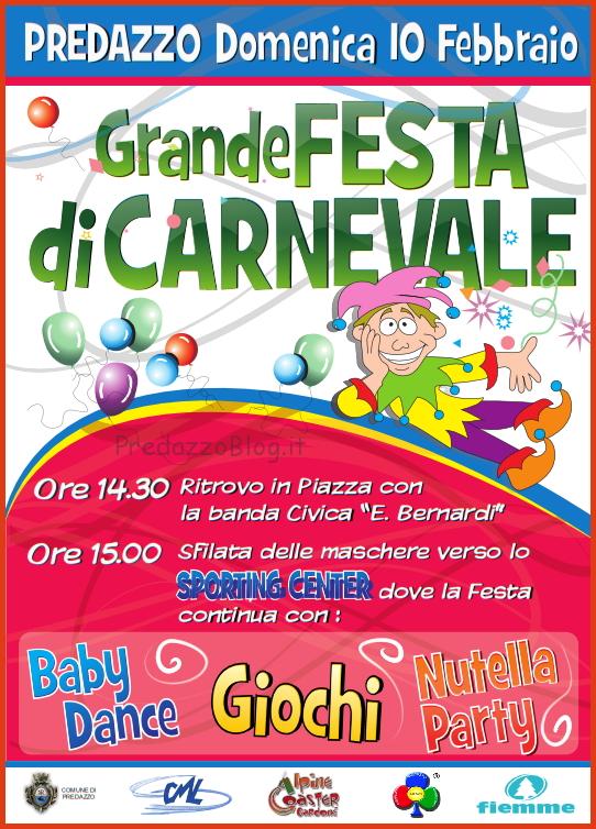 festa carnevale predazzo 2013 Predazzo, Festa di Carnevale domenica 10 febbraio