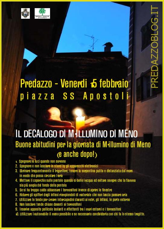 millumino di meno predazzo 2013 Predazzo centro al buio per Millumino di meno 2013