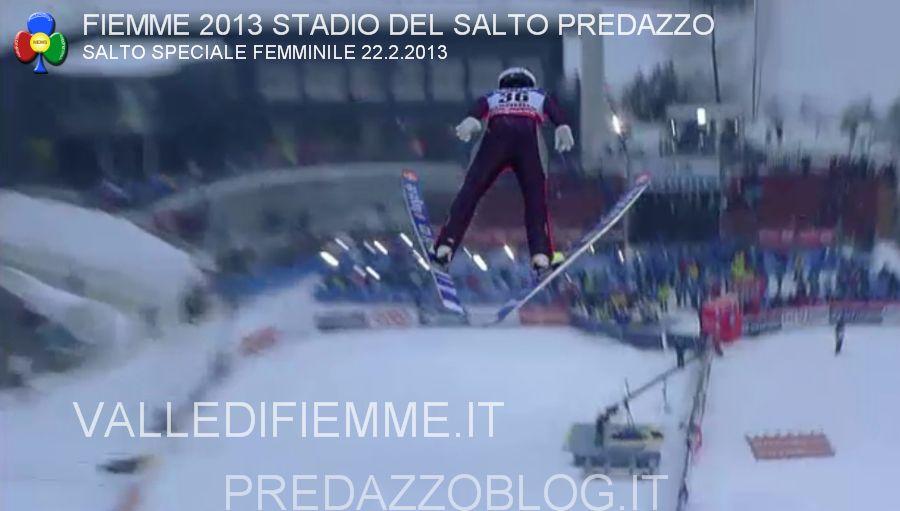 predazzo trampolini stadio del salto mondiali fiemme 2013 gara femminile 22.2.13 predazzoblog18 I Campionati Mondiali Fiemme 2013 prendono il volo dai trampolini di Predazzo   Fotogallery