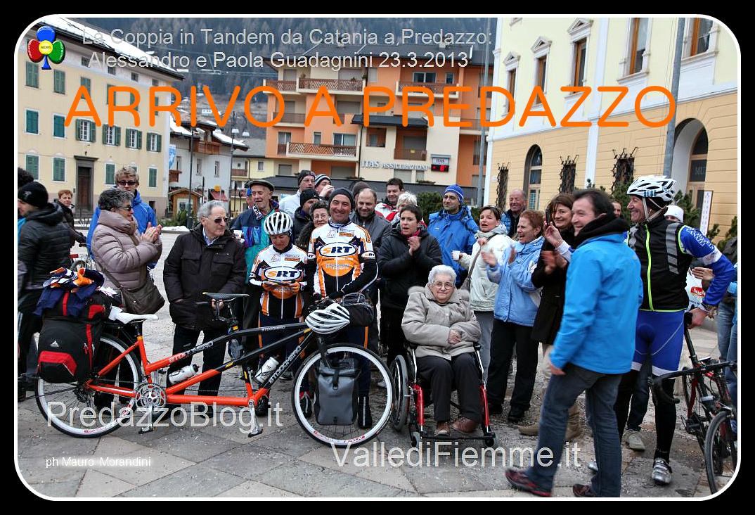 ARRIVO A PREDAZZO giro italia in tandem catania predazzo arrivo 23.3