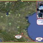 CARTINA COPPIA IN TANDEM 20.3.13 150x150 Pedalata da Catania a Predazzo: La Coppia in Tandem fa tappa a Matera + Aggiornamenti quotidiani