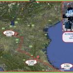 CARTINA COPPIA IN TANDEM 21.3.13 150x150 Pedalata da Catania a Predazzo: La Coppia in Tandem fa tappa a Matera + Aggiornamenti quotidiani