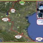CARTINA GIRO D ITALIA IN TANDEM 23.3.13 150x150 Il Giro dItalia in Tandem di Alessandro e Paola arriva a Predazzo