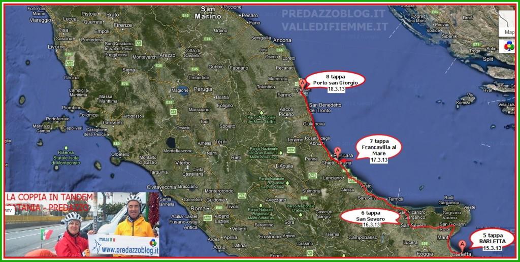 cartina coppia in tandem 8 tappa sicilia calabria puglia predazzo blog 1024x516 Pedalata da Catania a Predazzo: La Coppia in Tandem fa tappa a Matera + Aggiornamenti quotidiani