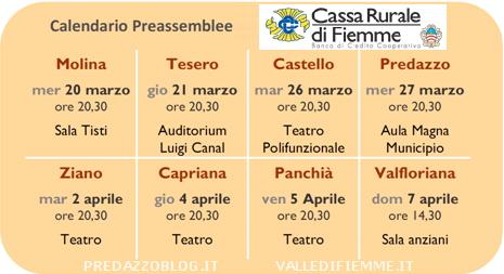 cassa rurale fiemme preassemblee predazzo blog Festa del Risparmio e calendario preassemblee della Cassa Rurale di Fiemme