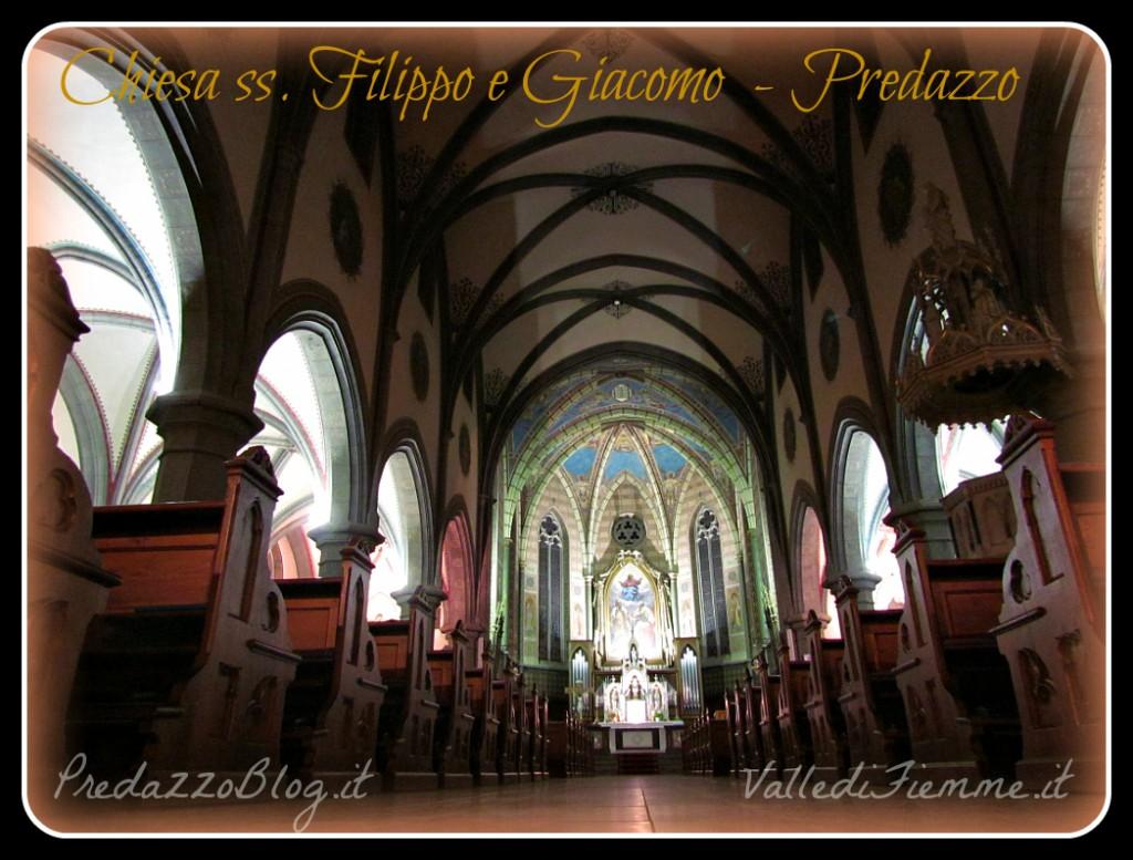 chiesa predazzo interno by mauro morandini 1024x777 Avvisi Parrocchie Fiemme 14   21 febbraio 2021