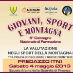 locandina convegno mini giovani sport e montagna finanza predazzo 150x150 8° Convegno Nazionale Giovani Sport e Montagna