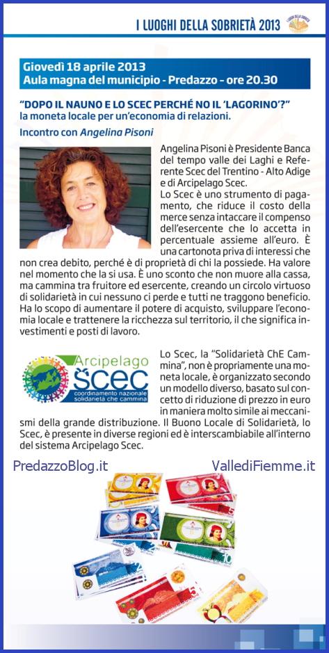 """moneta locale lagorino 1 predazzo blog """"Dopo il Nauno e lo Scec perché no il 'Lagorino'?"""" La moneta locale per un'economia di relazioni."""