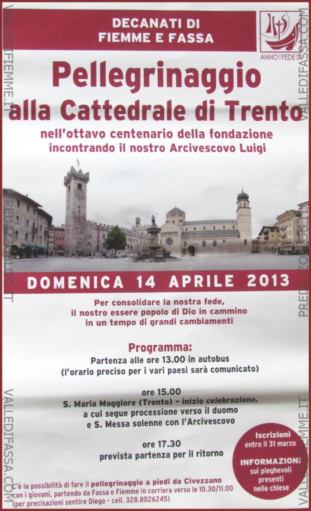 pellegrinaggio fiemme fassa a trento 623x1024 Predazzo avvisi della Parrocchia dal 7 al 14 aprile