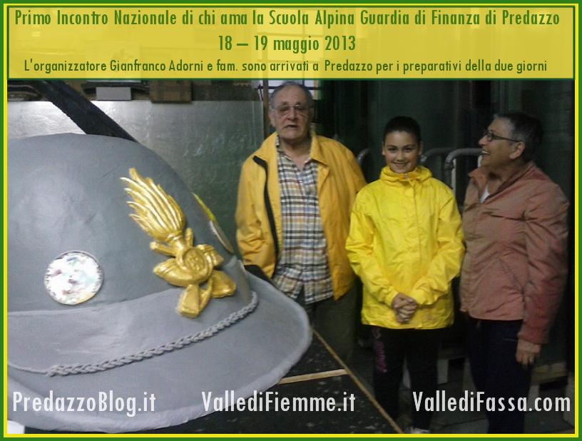 adorni arrivato a predazzo 18   19 maggio Primo Incontro Nazionale di chi ama la Scuola Alpina Guardia di Finanza di Predazzo