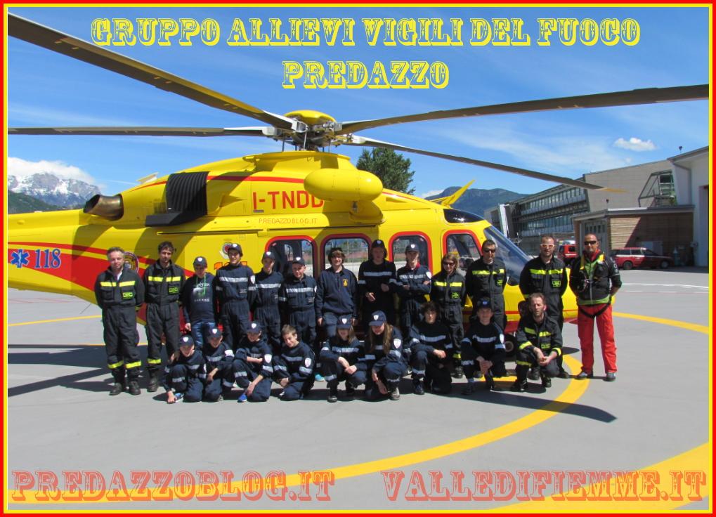 allievi vigili del fuoco predazzo al nucleo elicotteri trento predazzoblog Ecco come sarà il 13°Campeggio Allievi Vigili del Fuoco del Trentino in Valle di Fiemme   Video intervista allIspettore Distrettuale Sandri