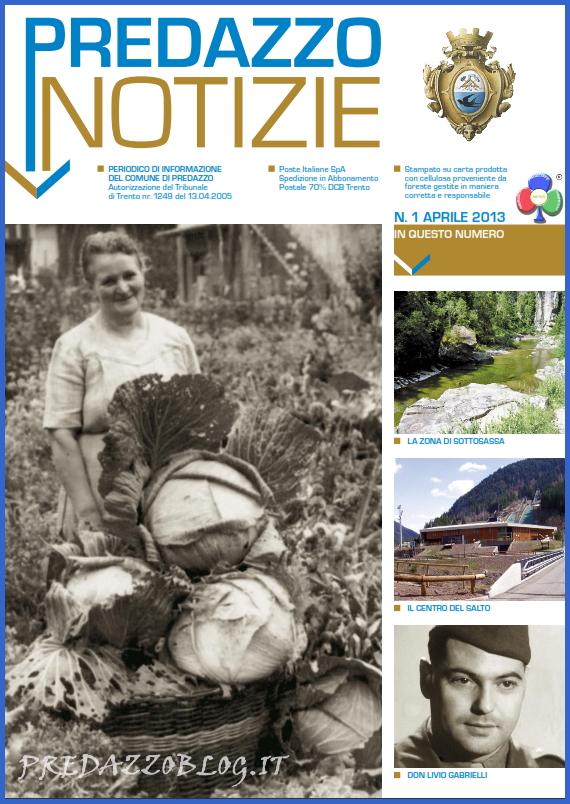 copertina giornalino predazzo notizie aprile 2013