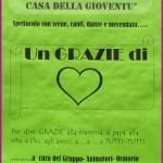 grazie di cuore oratorio predazzo 150x150 La Passione con il Cuore spettacolo per i missionari di Predazzo
