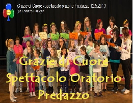 Grazie di Cuore spettacolo oratorio predazzo