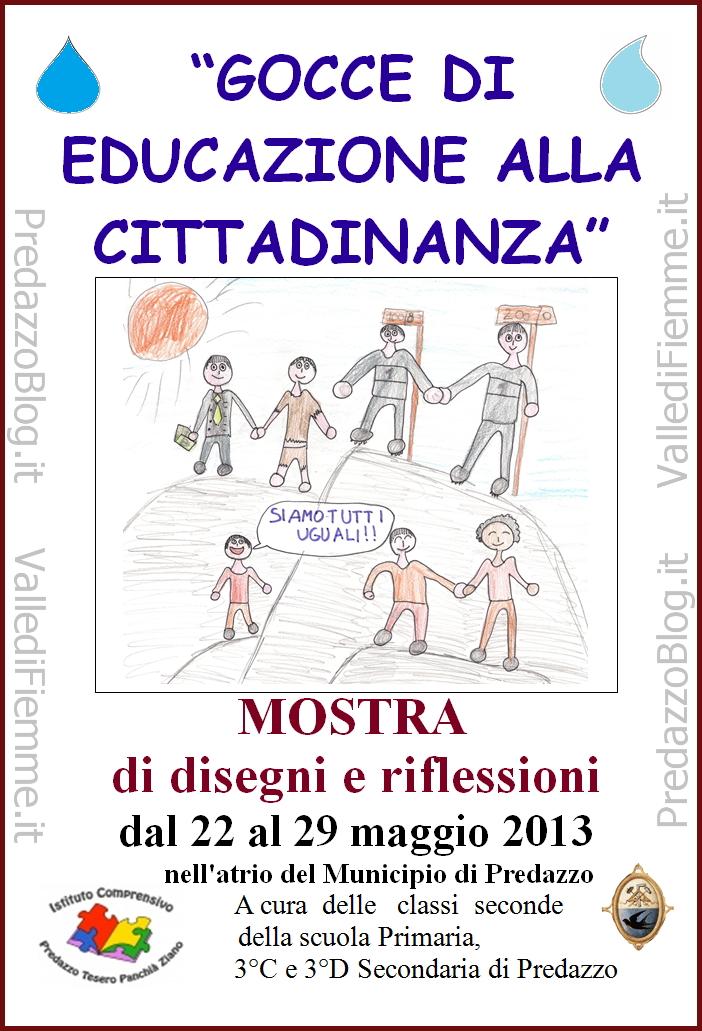 mostra disegni scuole cittadinanza predazzo