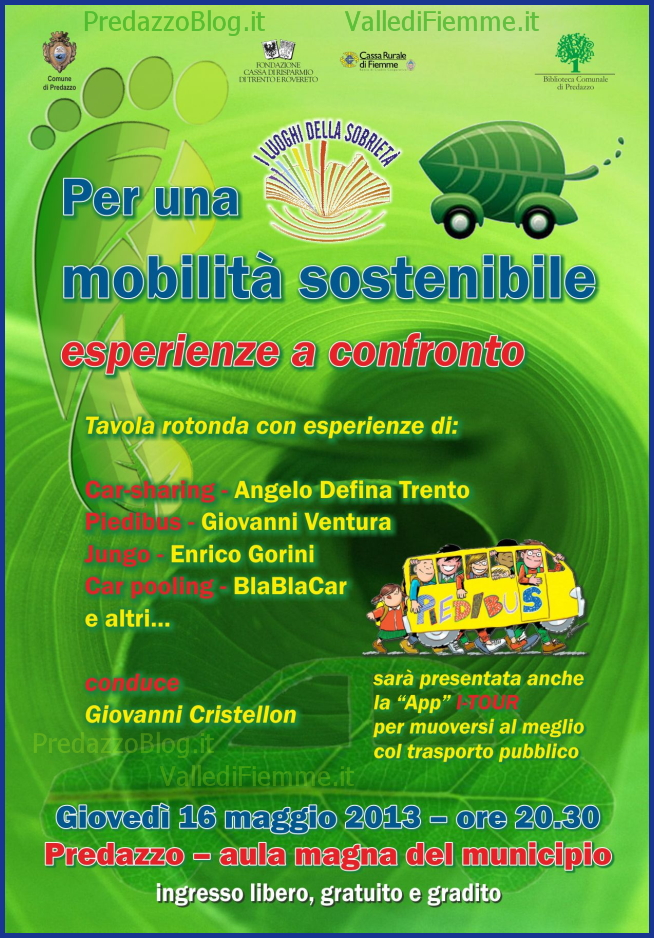 piedibus predazzo mobilita sostenibile