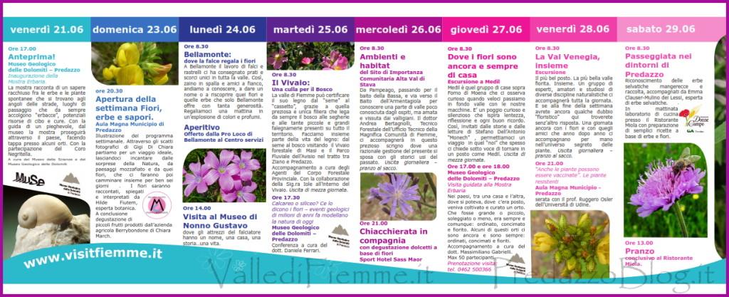 fiori erbe sapori predazzo programma fiemme 2013 1024x417 Fiori, erbe e sapori in Valle di Fiemme