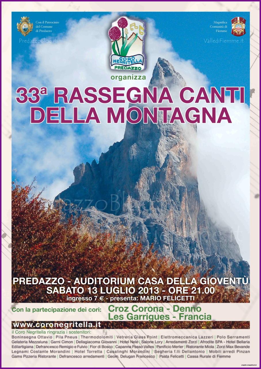 33 rassegna canti montagna coro negritella 2013 predazzo blog