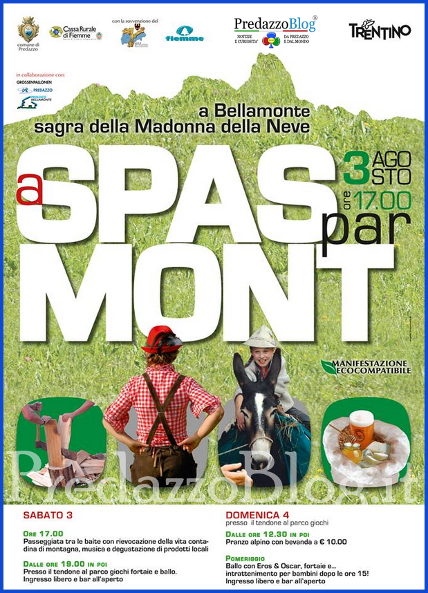 a spass par mont 2013 predazzo blog Bellamonte A Spass par Mont 3 agosto 2013