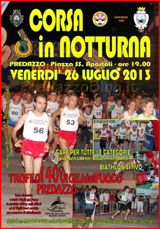 corsa in notturna 2013 predazzo