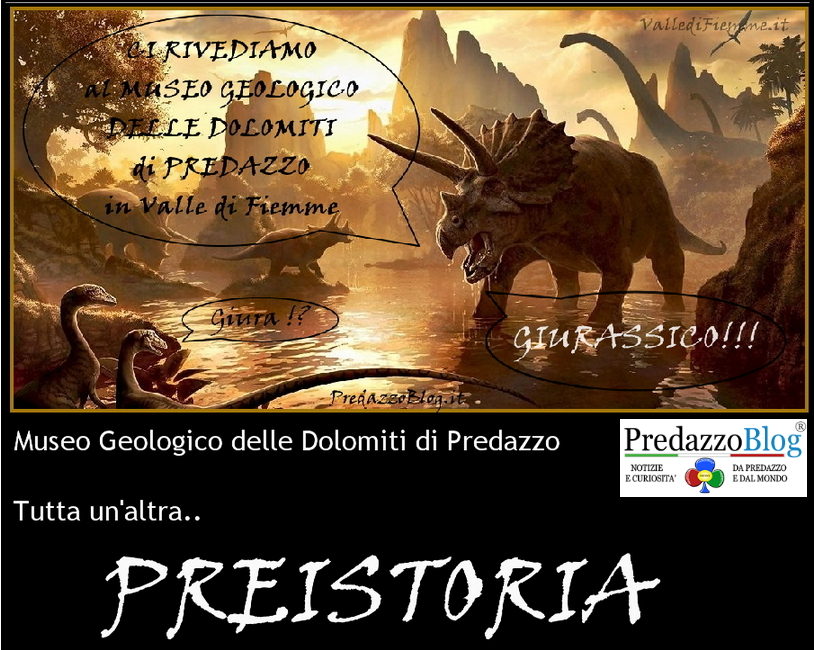 museo geologico delle dolomiti predazzo preistoria dinosauri fossili predazzoblog Si inaugura la stagione estiva al Museo Geologico delle Dolomiti a Predazzo