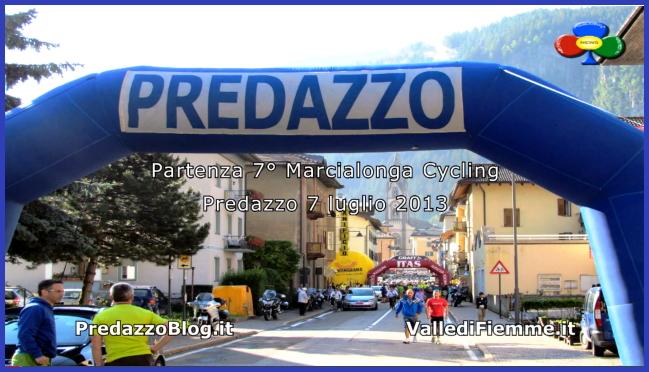 partenza 7 marcialonga cycling 2013 predazzo