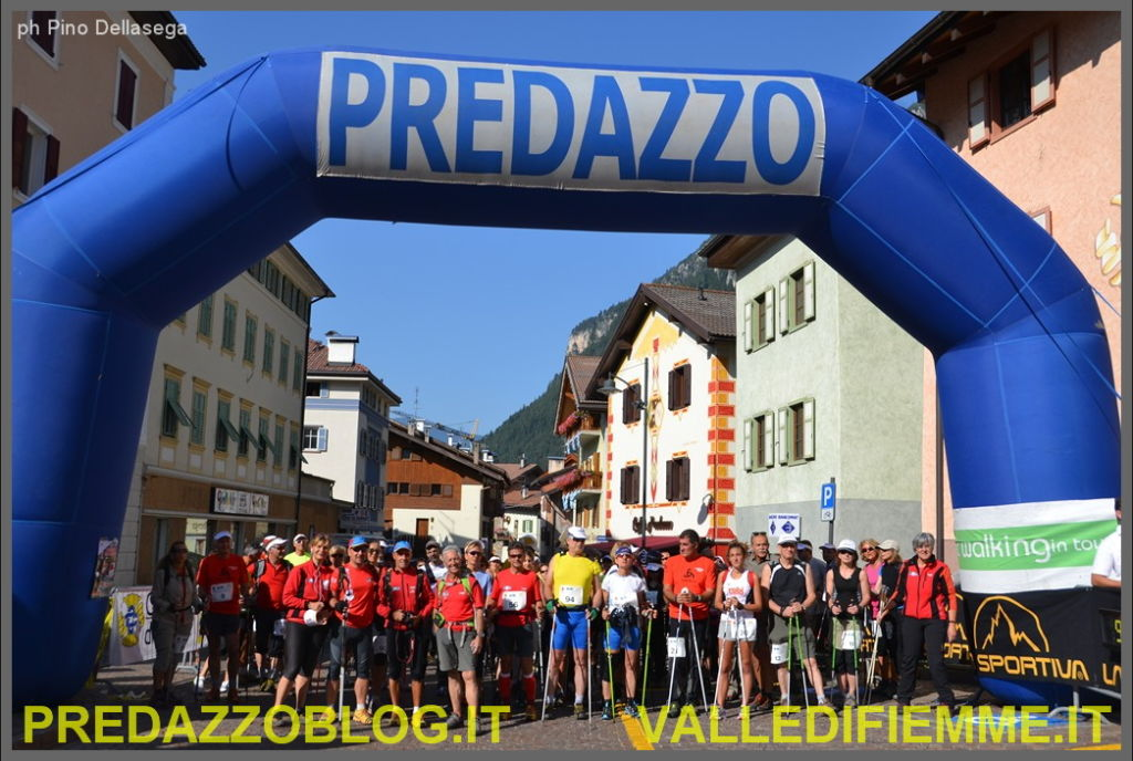 partenza predazzo nordic walking in tour 2013