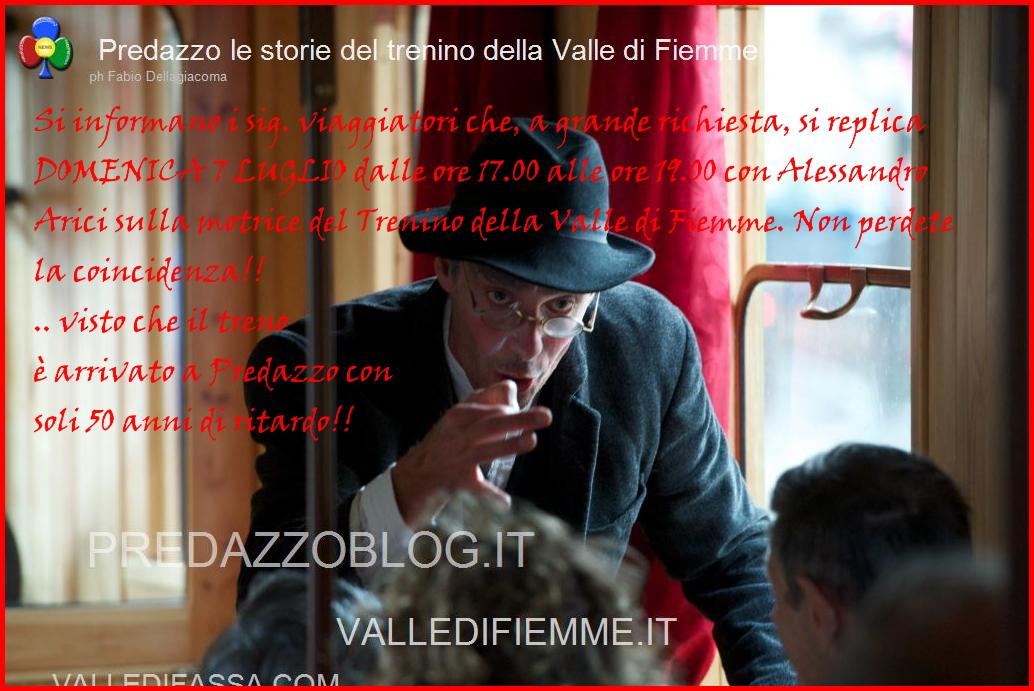 trenino di fiemme con le storie di arici Predazzo, tutti in carrozza per le storie del trenino della Valle di Fiemme