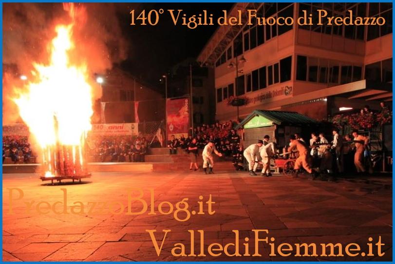 140 anni vigili fuoco predazzo serata 10 agosto 2013 65° Convegno Distrettuale dei Vigili del Fuoco di Fiemme a Ziano