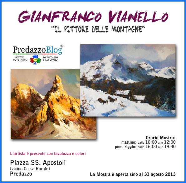 gianfranco vianello predazzo Predazzo, Gianfranco Vianello Il pittore delle Montagne