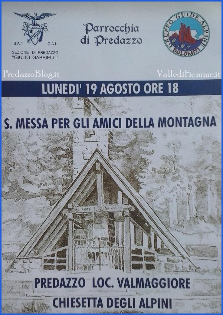 messa a valmaggiore montagna predazzo Predazzo, avvisi della Parrocchia dal 18 al 25 agosto