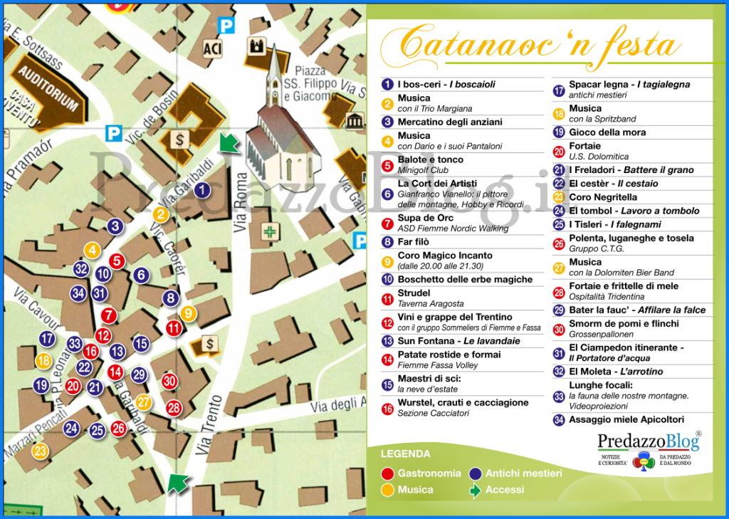 predazzo catanauc 2013 cartina Predazzo, Catanàoc in festa 2013