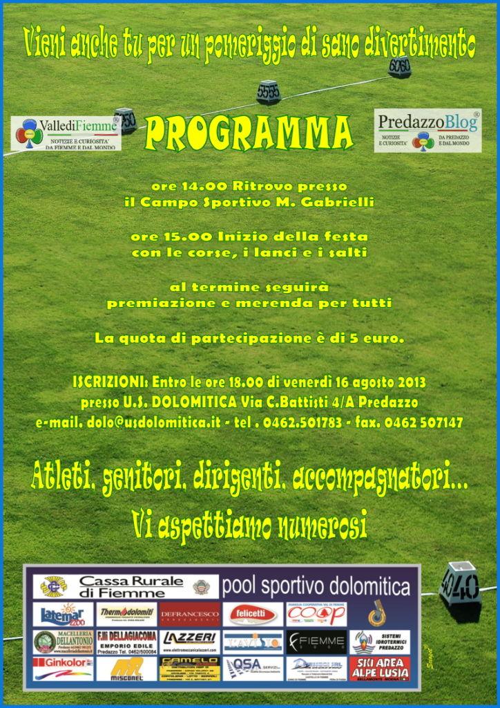 predazzo festa atletica 2013 fiemme 1 Predazzo, sano divertimento alla Festa dellAtletica 2013