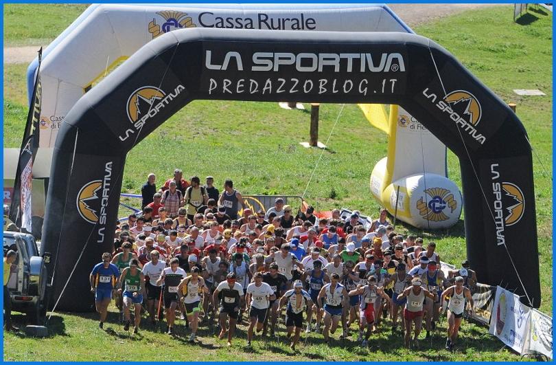 vertical km partenza mass start predazzo blog Il neo campione Marco Facchinelli alla Vertical Kilometer del Latemar