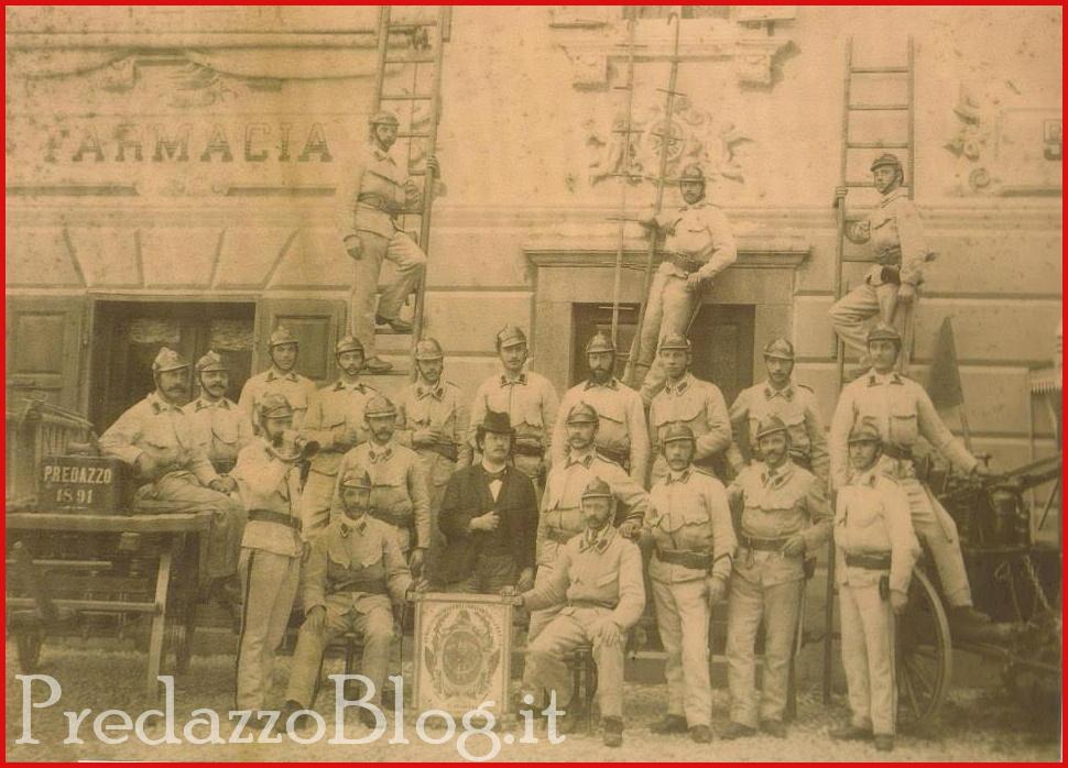 vigili fuoco predazzo foto storica Predazzo festeggia i 140 anni dei Vigili del Fuoco