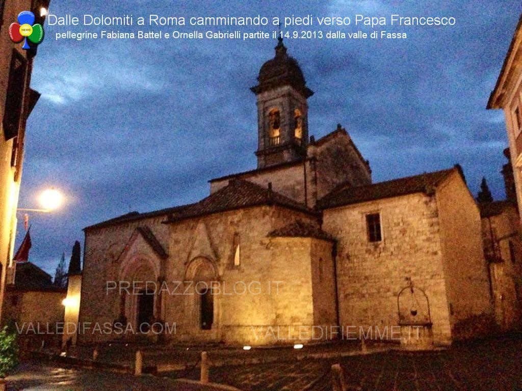 a roma a piedi da fassa predazzo blog1 In cammino a piedi dalle Dolomiti di Fassa fino a Roma da Papa Francesco