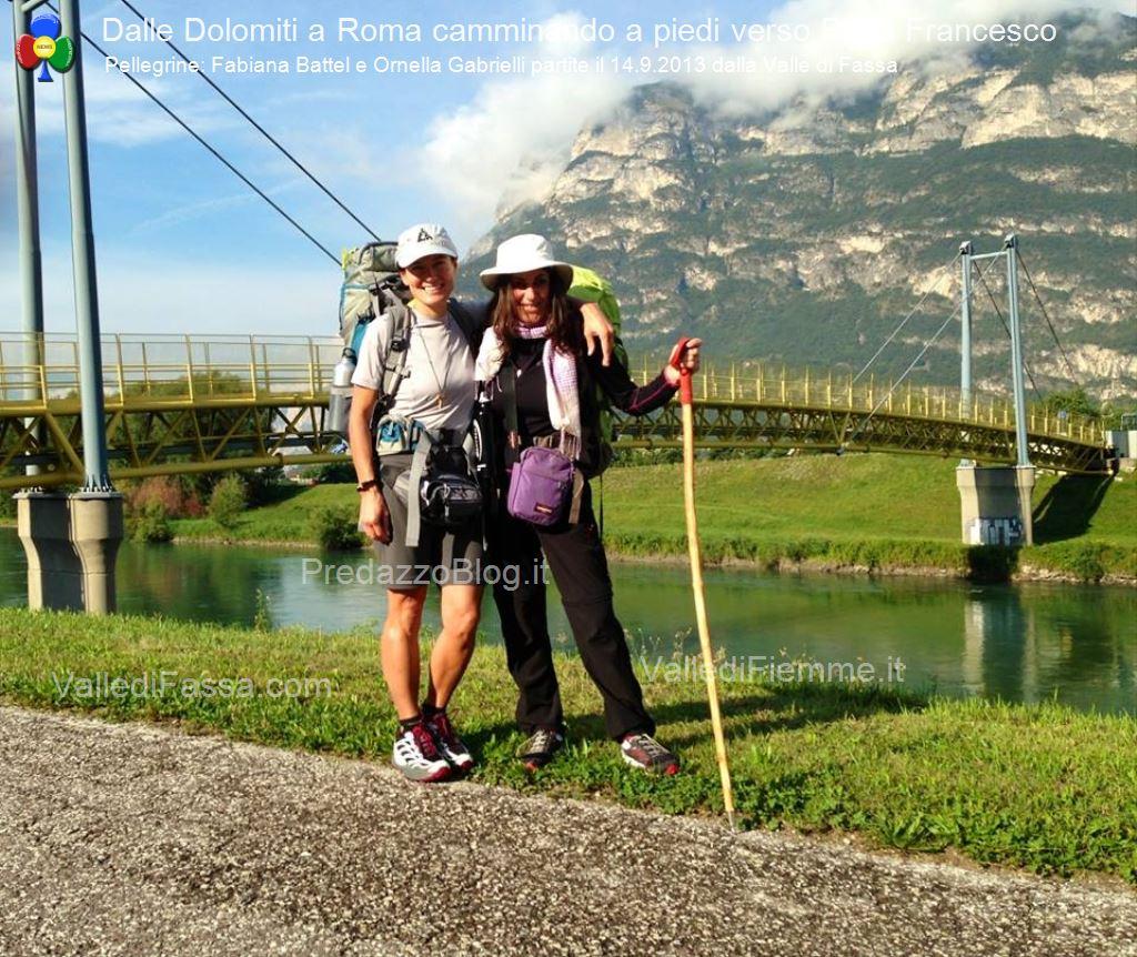 a roma a piedi da fassa1  In cammino a piedi dalle Dolomiti di Fassa fino a Roma da Papa Francesco