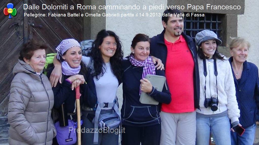 a roma a piedi da fassa23 1 In cammino a piedi dalle Dolomiti di Fassa fino a Roma da Papa Francesco
