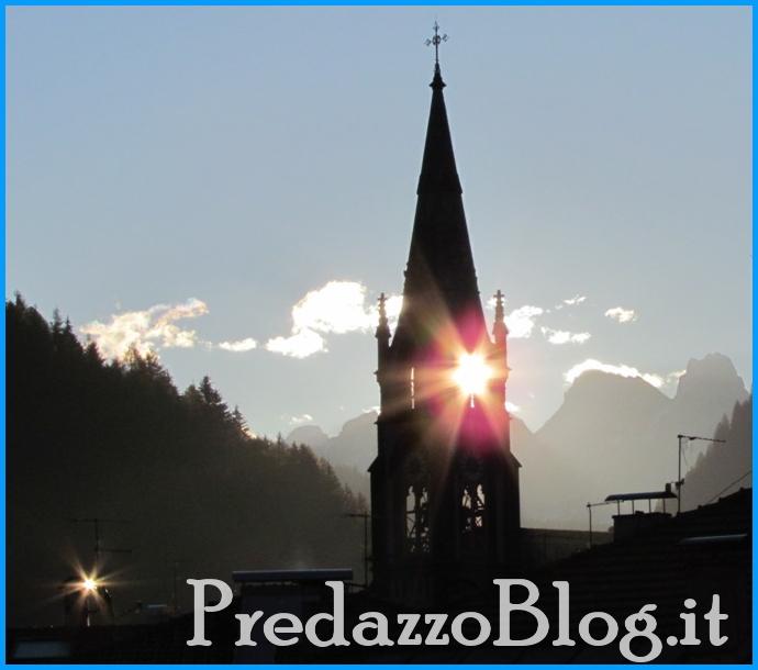 chiesa predazzo alba e riflessi di luce predazzoblog Predazzo, avvisi della Parrocchia dal 22 al 29 settembre