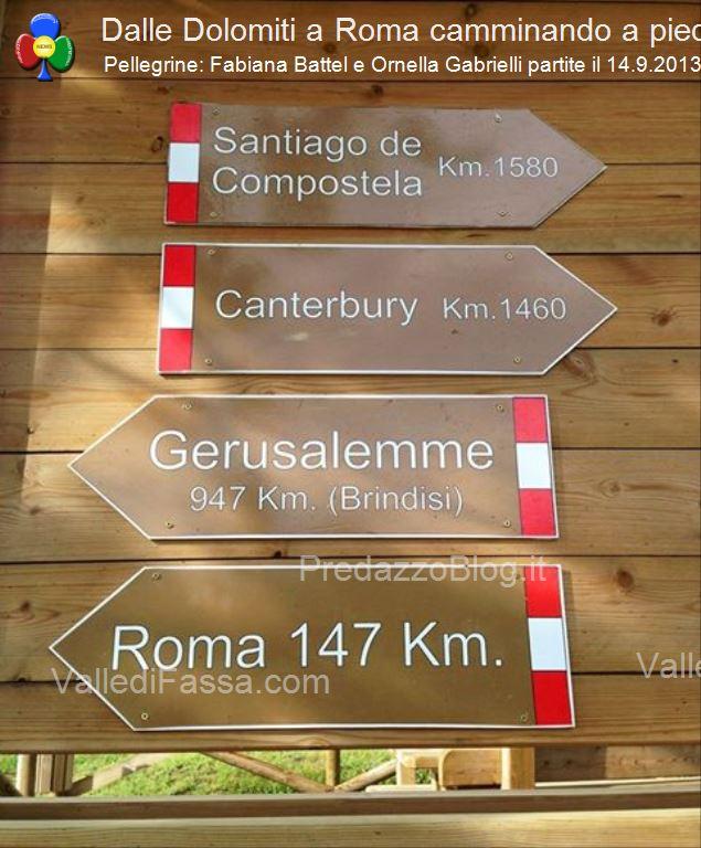 da fassa a roma a piedi con fabiana e ornella221 In cammino a piedi dalle Dolomiti di Fassa fino a Roma da Papa Francesco