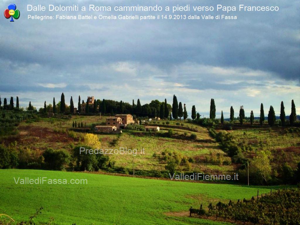 da fassa a roma a piedi con fabiana e ornella431 In cammino a piedi dalle Dolomiti di Fassa fino a Roma da Papa Francesco