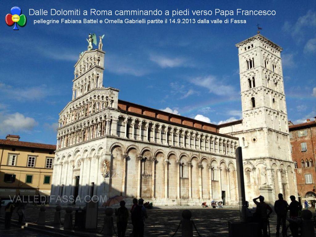 dalla valle di fassa a roma a piedi verso papa francesco33 In cammino a piedi dalle Dolomiti di Fassa fino a Roma da Papa Francesco
