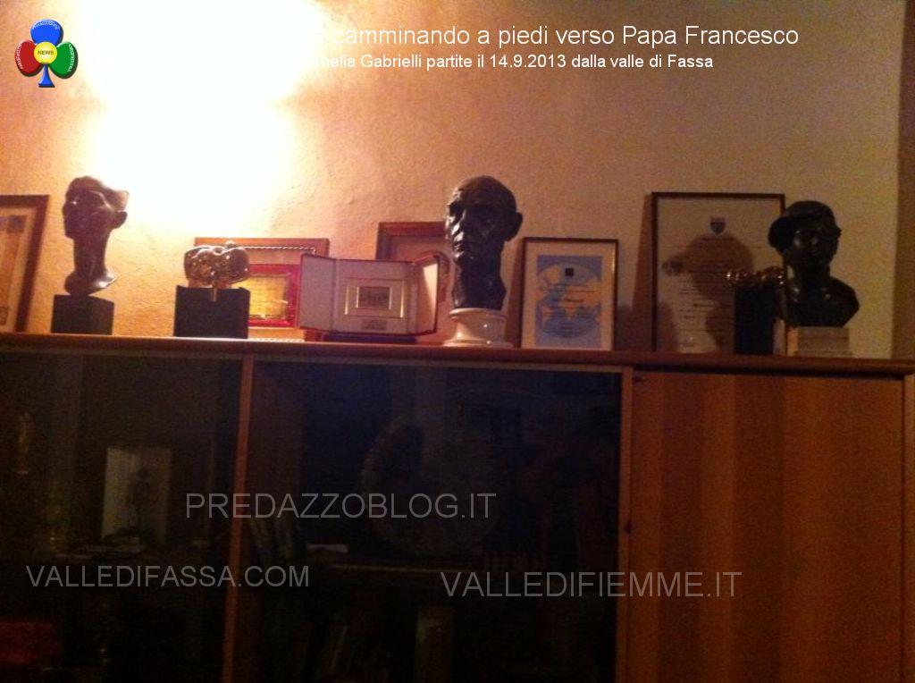 dalla valle di fassa a roma a piedi verso papa francesco48 In cammino a piedi dalle Dolomiti di Fassa fino a Roma da Papa Francesco