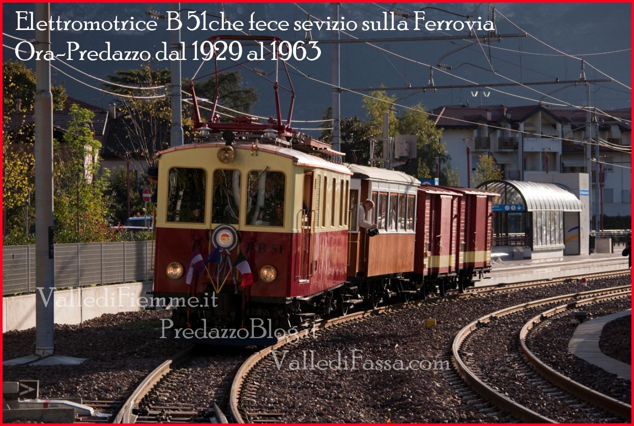 elettromotrice b51 ora predazzo fiemme fassa Un viaggio con il treno storico B51 da Trento a Dimaro