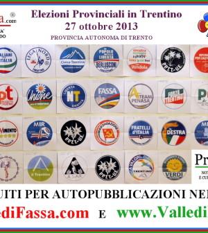 elezioni provinciali 2013 loghi e spazi gratuiti su siti fiemme fassa