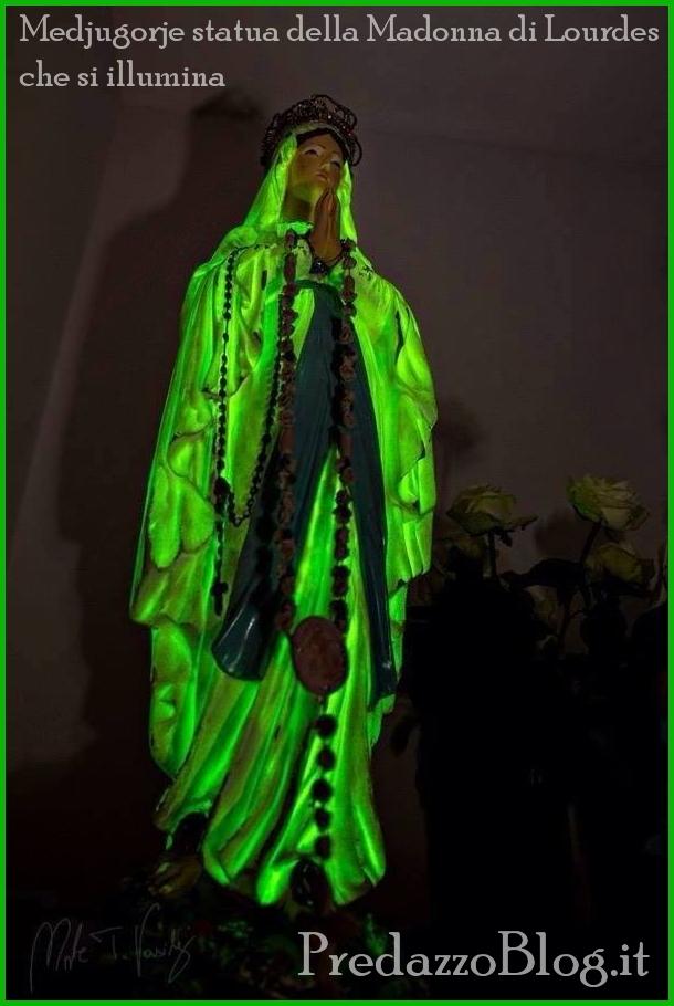 medjugorie statua madonna lourdes che si illumina settembre 2013 Medjugorie messaggio del 25 settembre 2013 e statua che si illumina