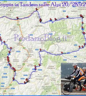 percorso coppia in tandem sulle alpi settembre 2013 predazzo blog
